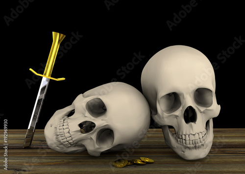 Pirate Skull - 3D
