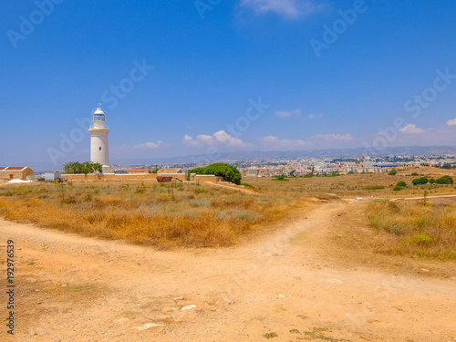 Foto op Aluminium Cyprus Old Lighthouse of Paphos, Cyprus