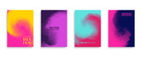Covers design set with modern abstract swirl color gradient patterns. Templates collection for brochures, posters, banners and cards. Vector illustration.