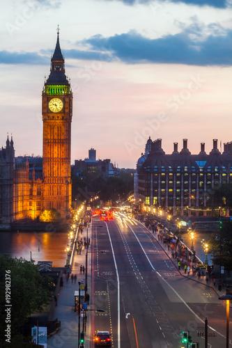 Deurstickers Londen Big Ben in the evening, London, England.