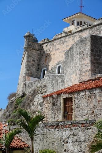 Foto op Canvas Havana Festung in Havanna, Kuba, Castillo de San Pedro de la Roca