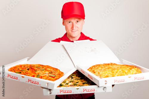 Papiers peints Pizzeria Pizza Delivery Boy