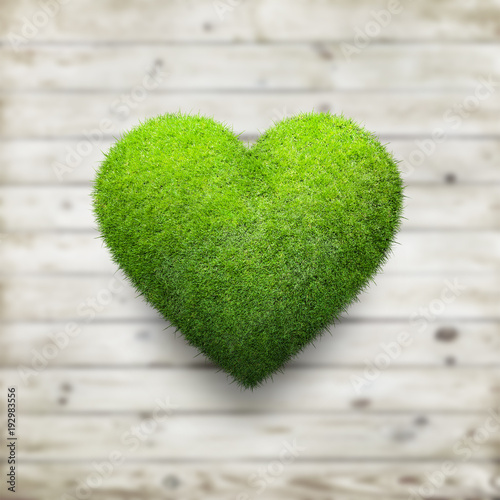 Foto op Canvas Gras Heart