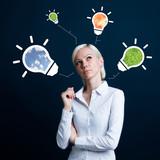 Business idea eco icon - 192984397