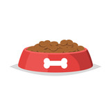 Dog food in bowl vector isolated - 192984585