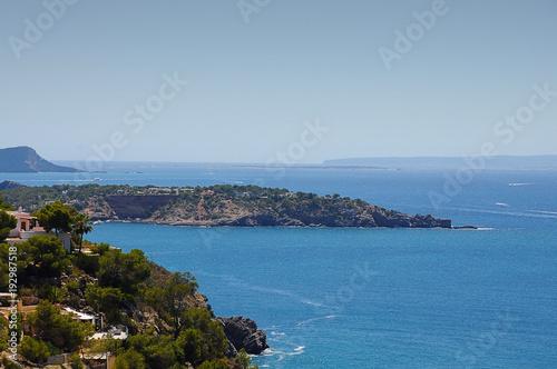 Fotobehang Blauwe jeans Ibiza Ocean overview