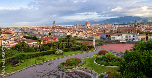 Fotobehang Florence Panoramic view of Florence in Italy