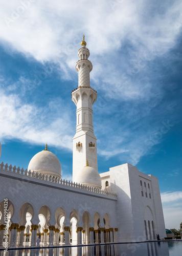 Fotobehang Abu Dhabi Sheikh-Zayed-Moschee in Abu Dhabi