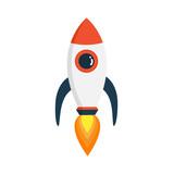 Rocket In Fat Style    S Stock Wall Sticker