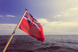 Quadro uk red ensign the british maritime flag flown from yacht