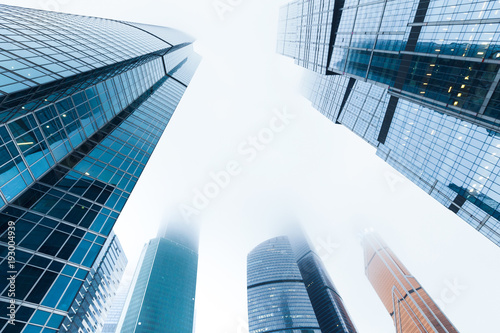 Modern skyscrapers from low angle view