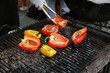 Sweet pepper on the grill
