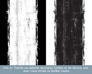 Seamless Pattern - Vertical Brush Stroke Positive and Negative