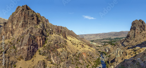 Fotobehang Bergrivier Mountain landscape, Georgia