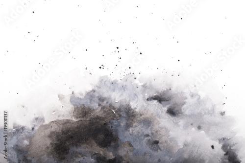 Plakat  gray watercolor