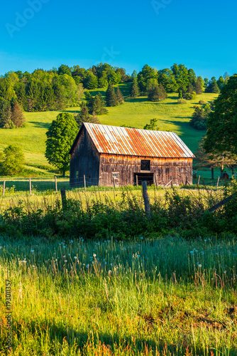 Barn in Field in Vermont USA