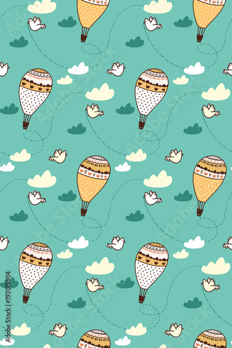 Cute pattern for kids, girls and boys. Vector illustration. It can be used to create prints, packaging, invitations, simple designs, gift wraps, festive decor, clothes, bags, pillows, postcards, cups - 193015904
