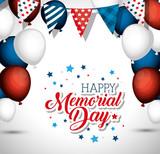 happy memorial day celebration vector illustration design - 193017131