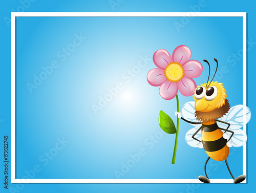 Aluminium Kids Frame template with bee and flower
