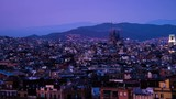 Barcelona in sunset time, Spain, timelapse - 193037968