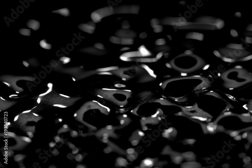 Abstract Black Background Liquid Texture