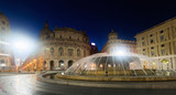 Night view of Piazza De Ferrari, Genoa