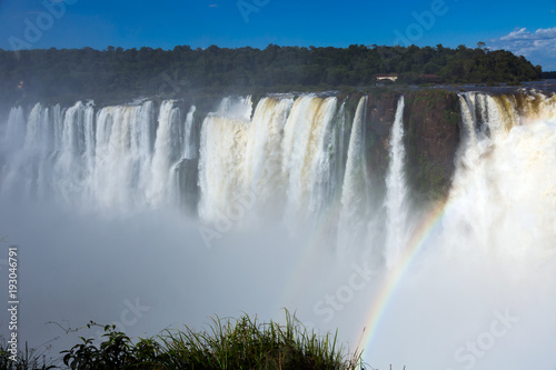 Garganta del Diablo waterfall on Iguazu River - 193046791