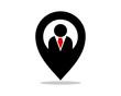 marker figure person human silhouette image vector icon logo symbol