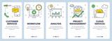 Vector modern thin line customer services concept web banner set - 193082170