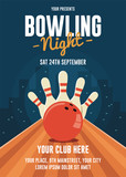 Bowling Night Flyer Template - 193086988