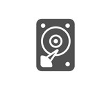 HDD icon. Hard disk storage sign. Hard drive memory symbol. Quality design elements. Classic style. Vector - 193089722