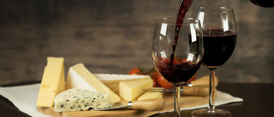 Red Wine and cheese board © Aerial Mike