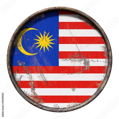 Staande foto Kuala Lumpur Old Malaysia flag