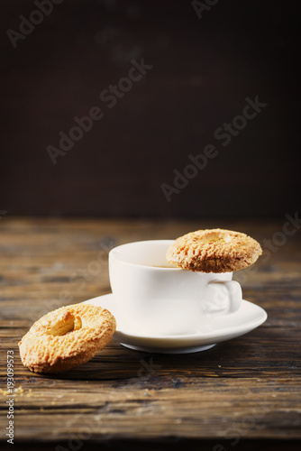 Sticker Sweet homemade cookies and cup of coffee