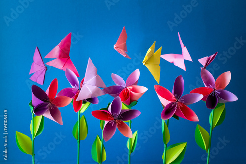 Origami paper flowers butterflies clouds and sun paper art craft origami paper flowers butterflies clouds and sun paper art craft mightylinksfo