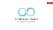 Firmenlogo Vorlage, Data / Consulting / Netzwerk / Personal, blau/türkis