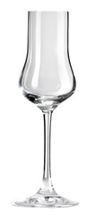 Empty glass for champagne isolated on white background with clipping path. © gedzun