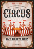 Vintage Western Circus Poster - 193115370
