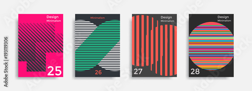 Covers templates collection with graphic geometric shapes - 193119306