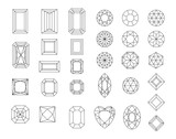 Diamond Design Elements  Cutting Samples Wall Sticker