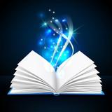 Open Book  Mystic Bright Light Wall Sticker