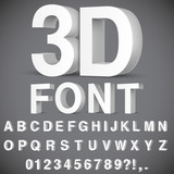3D Alphabet and Numbers - 193133380