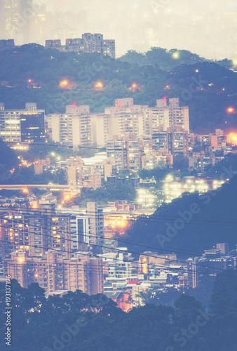 Taipei cityscape, Taiwan Poster