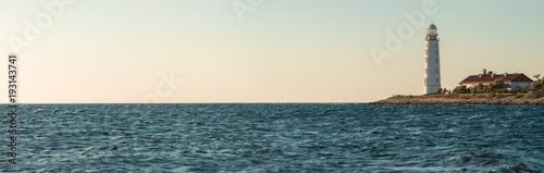 Papiers peints Bleu vert Beauty nature sea landscape with beacon
