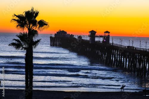 Foto op Aluminium Zee zonsondergang Sunset Paradise