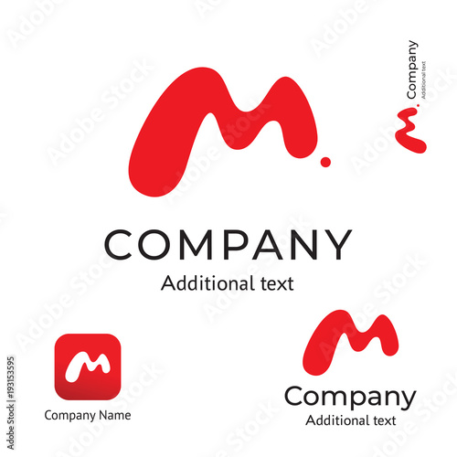 M Letter Abstract Technological Modern Logo Business Identity Brand and App Icon Symbol Concept Set Template