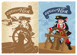 Pirate Children's Party Young Skipper Flag Wall Sticker