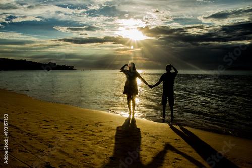 Foto op Aluminium Zee zonsondergang Praia Brasileira