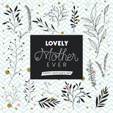 lovely mom for ever handmade postcard vector illustration design - 193157519
