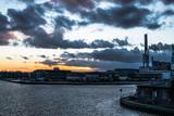 Sonnenuntergang am Hafen in Münster - 193158125